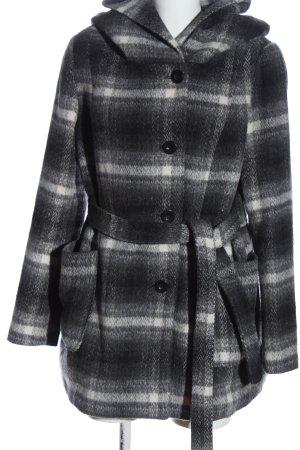 C&A OUTERWEAR Capuchon jas lichtgrijs-wit geruite print casual uitstraling