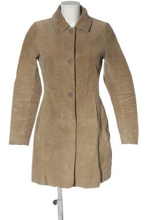 C&A OUTERWEAR Leren jas bruin casual uitstraling