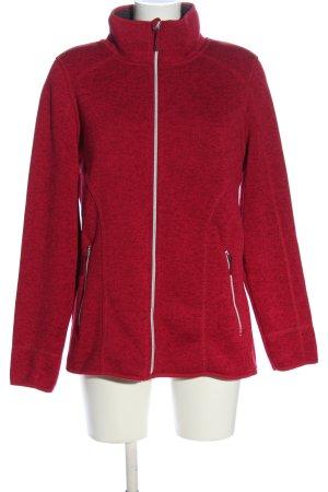 C&A OUTERWEAR Kurtka dresowa czerwony Melanżowy W stylu casual