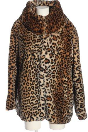 C&A OUTERWEAR Pluszowa kurtka Zwierzęcy wzór Elegancki