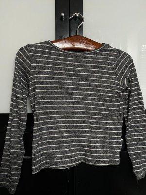 C&A Pullover in grau und weiß gestreift in XS