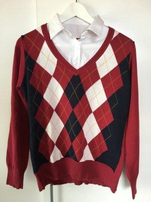 C&A Pullover mit eingenähtem Kragen Gr. L