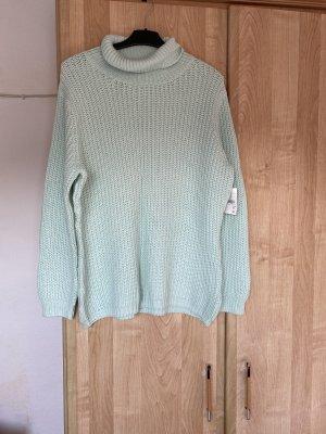 C&A Basics Szydełkowany sweter miętowy-jasnoniebieski