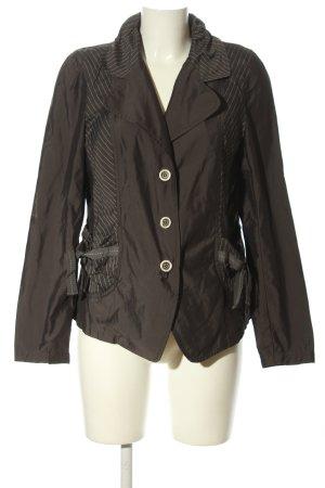 c.a.r.o. Blazer court brun-blanc motif rayé style décontracté