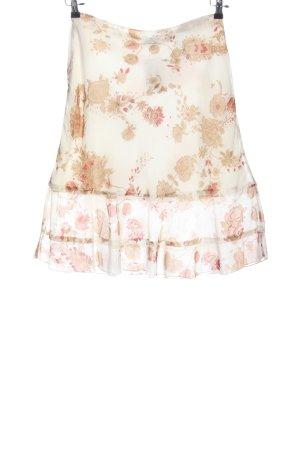 c.a.r.o. Jupe mi-longue crème-rose motif de fleur style décontracté
