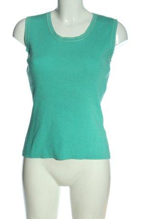 c.a.r.o. T-shirts en mailles tricotées turquoise style décontracté