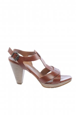 C&A Strapped High-Heeled Sandals brown casual look