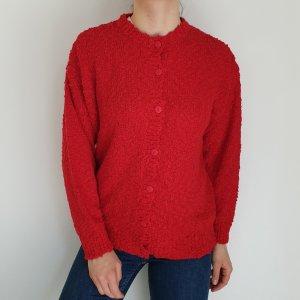C&A Rot Jacke Cardigan Strickjacke Oversize Pullover Hoodie Pulli Sweater hemd bluse 40 jacke mantel Top True Vintage