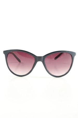 C&A Occhiale da sole rotondo nero-bianco sporco stile professionale
