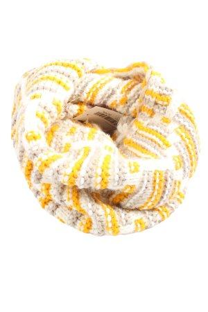 C&A Bufanda tubo amarillo pálido-blanco puro punto trenzado look casual