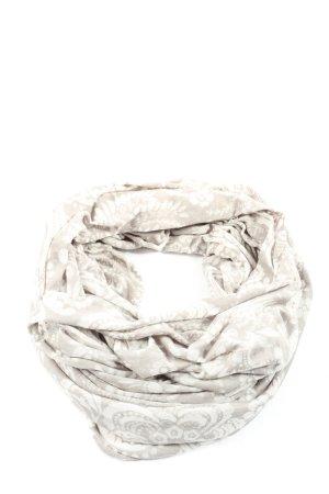 C&A Bufanda tubo gris claro-blanco estampado repetido sobre toda la superficie