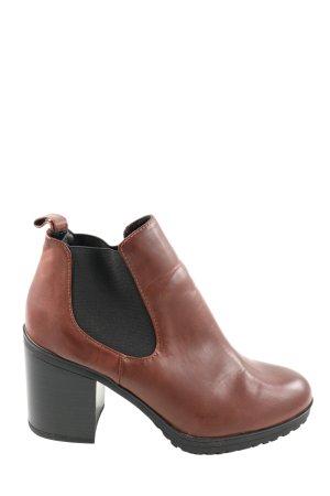 C&A Schlüpf-Stiefeletten braun-schwarz Casual-Look