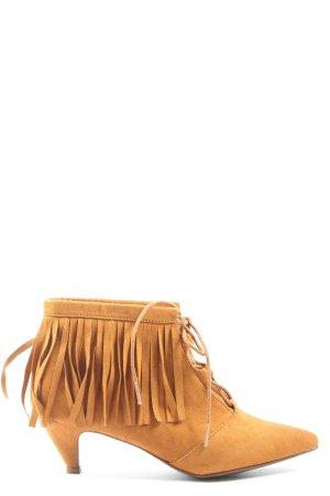 C&A Slip-on Booties light orange casual look