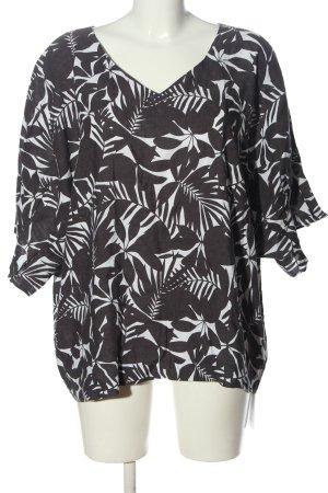 C&A Blusa caída negro-blanco estampado repetido sobre toda la superficie