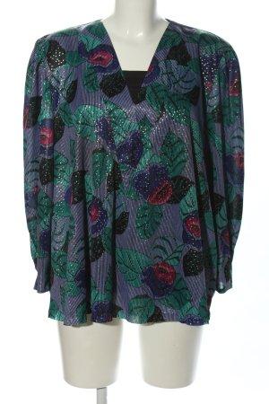 C&A Schlupf-Bluse lila-grün Allover-Druck Casual-Look