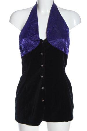 C&A Schlupf-Bluse blau-schwarz extravaganter Stil