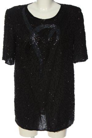 C&A Schlupf-Bluse schwarz Schriftzug gestickt Casual-Look