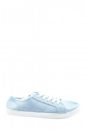 C&A Lace-Up Sneaker blue casual look