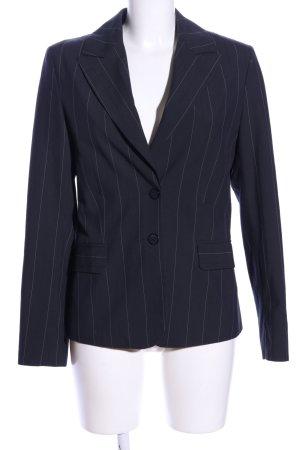 C&A Blazer de esmoquin negro-blanco estampado a rayas estilo «business»