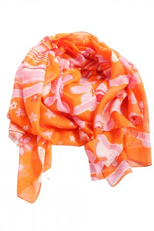 C&A Summer Scarf light orange-pink allover print casual look