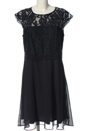 C&A Lace Dress black weave pattern casual look