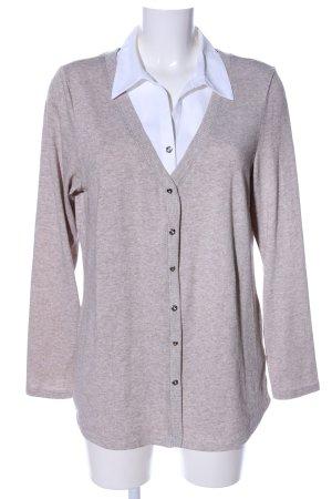 C&A Blusa de cuello alto crema-blanco moteado estilo «business»