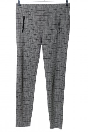 C&A Stretch Trousers light grey-black check pattern casual look