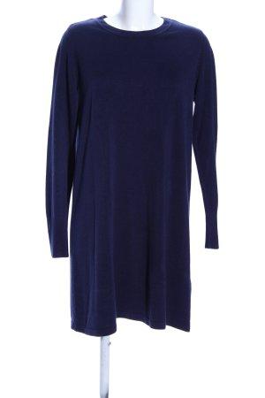 C&A Strickkleid blau Business-Look