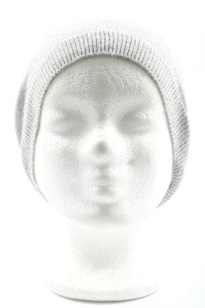 C&A Sombrero de punto gris claro look casual