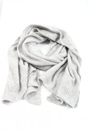 C&A Knitted Scarf light grey flecked casual look