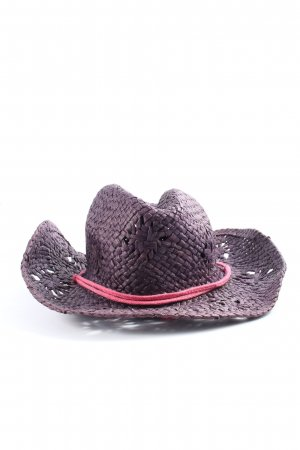C&A Straw Hat lilac-pink casual look