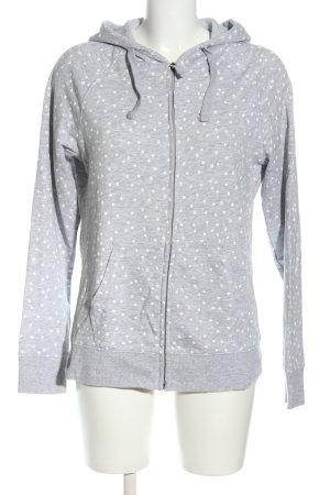 C&A Sweatjacke hellgrau-weiß Allover-Druck sportlicher Stil