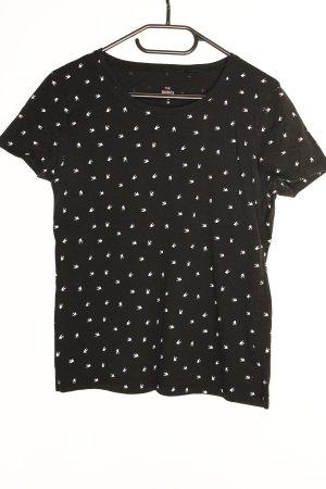 C&A Basics T-Shirt black-white cotton