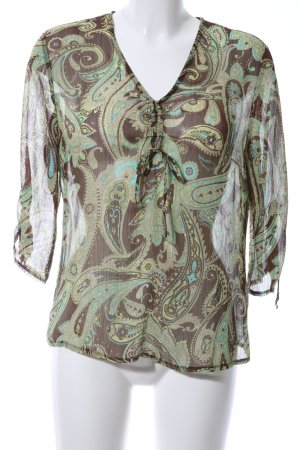 C&A Transparenz-Bluse abstraktes Muster Casual-Look