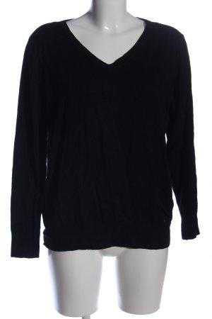 C&A V-Ausschnitt-Pullover schwarz Casual-Look