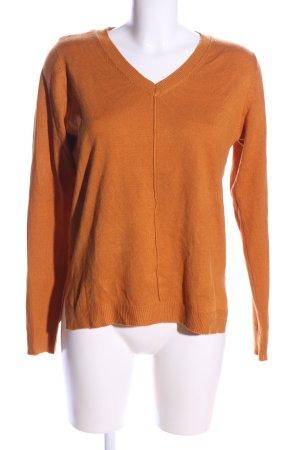 C&A V-Ausschnitt-Pullover hellorange Casual-Look
