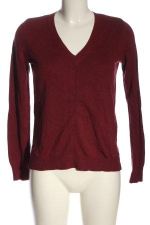 C&A Jersey con cuello de pico rojo look casual