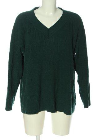 C&A V-Ausschnitt-Pullover grün Casual-Look