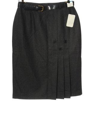 C&A Wool Skirt black elegant