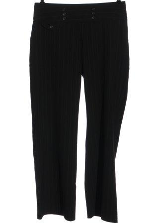 C&A Yessica Pantalone da abito nero-bianco motivo a righe stile professionale