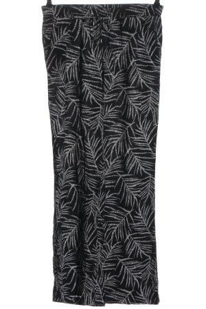 C&A Yessica Baggy Pants black-light grey allover print elegant