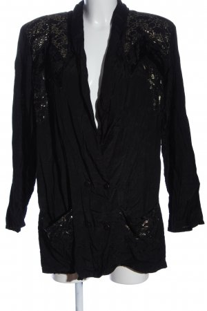 C&A Yessica Veste chemisier noir-doré motif abstrait style décontracté