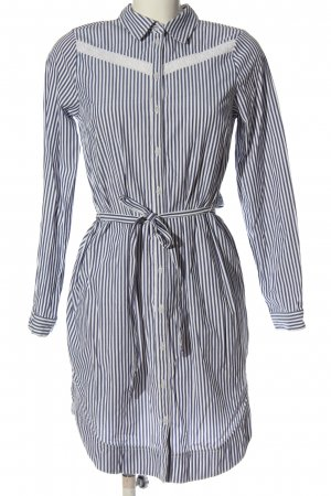 C&A Yessica Robe chemisier bleu-blanc motif rayé style décontracté