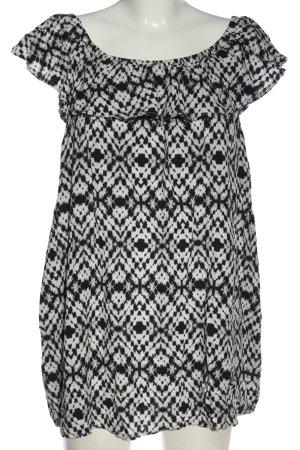 C&A Yessica Bluzka typu carmen czarny-jasnoszary Abstrakcyjny wzór