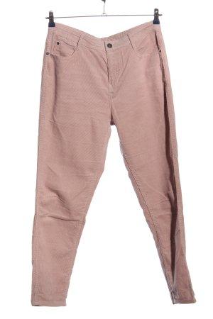 C&A Yessica Pantalone di velluto a coste grigio chiaro motivo a righe