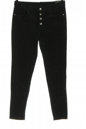 C&A Yessica Corduroy Trousers black casual look