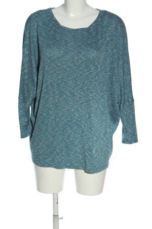 C&A Yessica Pull en maille fine turquoise moucheté style décontracté