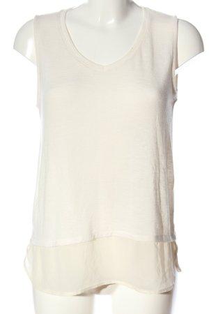 C&A Yessica Sweter bez rękawów z cienkiej dzianiny w kolorze białej wełny