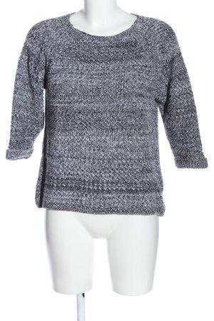 C&A Yessica Jersey de ganchillo negro-blanco Patrón de tejido look casual