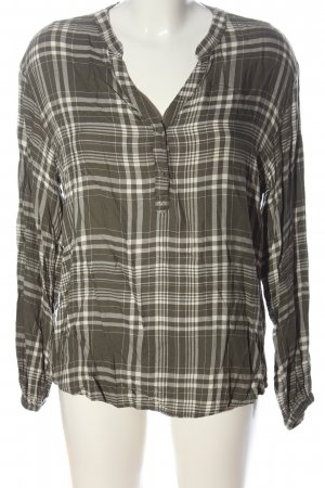 C&A Yessica Shirt Blouse khaki-natural white check pattern casual look